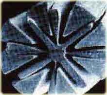 микроволокно под микроскопом